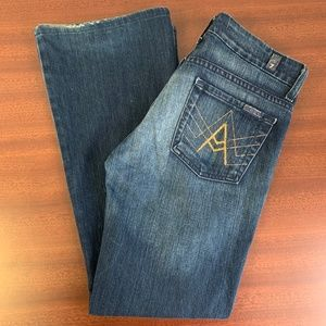 7 For All Mankind Gold A Pocket Bootcut